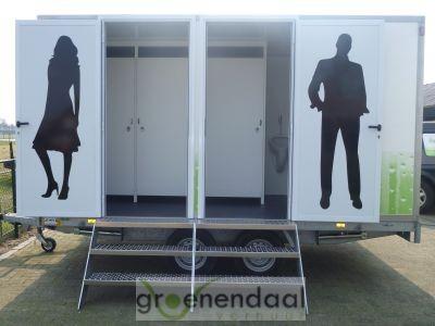 Buitenkant toiletwagen 212 van Groenendaal Verhuur
