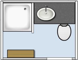 plattegrond mobiele badkamer van groenendaal toilet verhuur