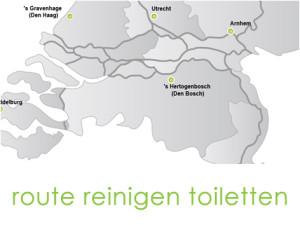 KaartjeGroenendaal route reinigen toiletten