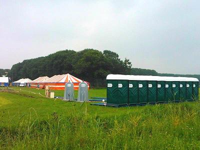 Groenendaal toiletten op een evenement