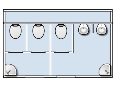 Plattegrond mobiele toiletwagen