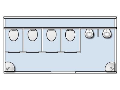 Plattegrond toiletwagen evenement